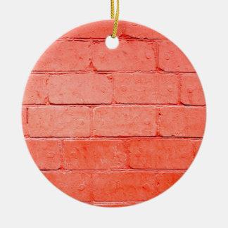 ペンキの層の煉瓦の赤い背景 セラミックオーナメント