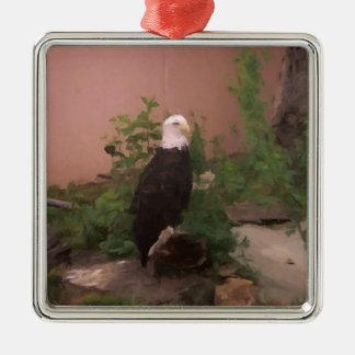 ペンキの白頭鷲 メタルオーナメント