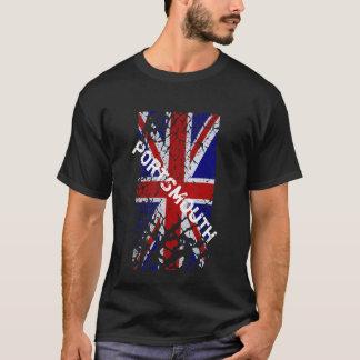ペンキの英国国旗の旗の皮をむくポーツマスのヴィンテージ Tシャツ