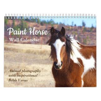 ペンキの馬のカレンダー2018動物の写真撮影 カレンダー