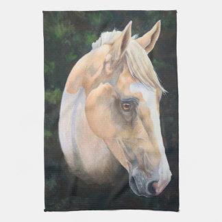 ペンキの馬の台所タオル ハンドタオル
