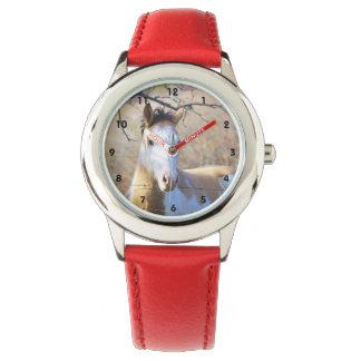 ペンキの馬の子供の腕時計 腕時計