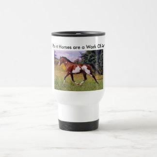 ペンキの馬の小走りに走るマグ トラベルマグ