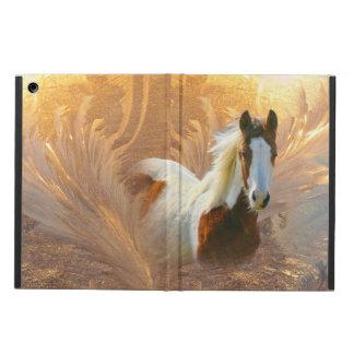 ペンキの馬の金ゴールドのiPad Airカバーの場合 iPad Airケース