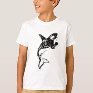 ペンキの(ばちゃばちゃ)跳ねるのシャチの芸術 Tシャツ