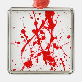 ペンキのSplat赤いプロダクト メタルオーナメント