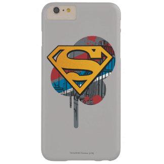 ペンキを持つスーパーマンのS盾|のオレンジ iPhone 6 PLUS ベアリーゼアケース