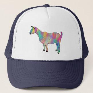 ペンキを持つ多彩のヤギは動物の芸術をはね飛ばします キャップ