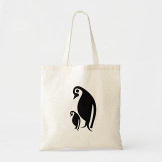 ペンギンおよびひよこ トートバッグ