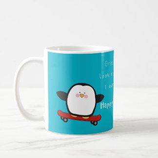 ペンギンとの幸せでおもしろいな父の日 コーヒーマグカップ