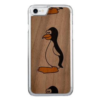 ペンギンのかわいい動物のモチーフ CARVED iPhone 8/7 ケース