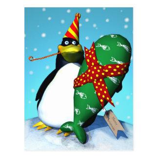 ペンギンのなま臭いギフト ポストカード