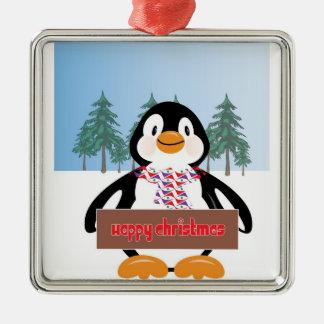 ペンギンのオーナメント メタルオーナメント