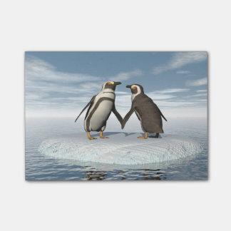 ペンギンのカップル ポストイット