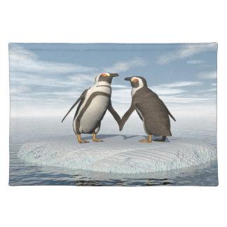 ペンギンのカップル ランチョンマット