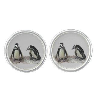 ペンギンのカフスボタン カフリンクス