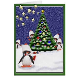 ペンギンのクリスマスの楽園 カード