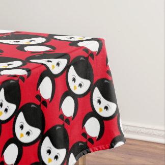 ペンギンのグラフィックのテーブルクロス テーブルクロス