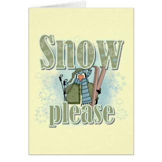 ペンギンのスキー雪のTシャツおよびギフト カード