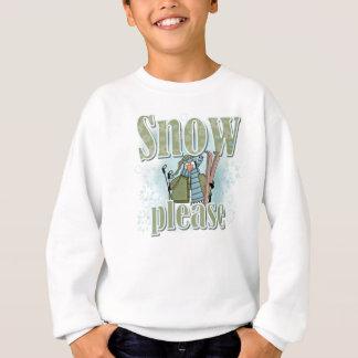 ペンギンのスキー雪のTシャツおよびギフト スウェットシャツ