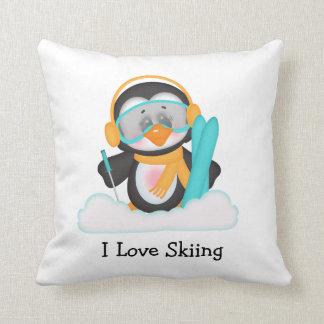 ペンギンのスキー クッション