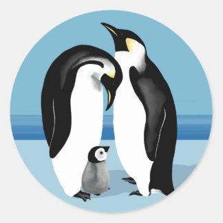 ペンギンのステッカー ラウンドシール