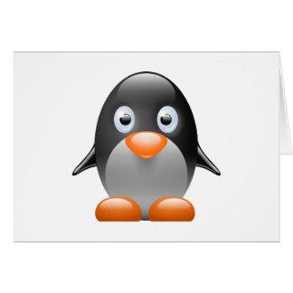 ペンギンのタキシードのLinuxのイメージ カード
