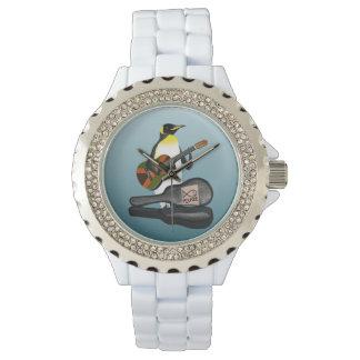 ペンギンのレゲエのギター 腕時計