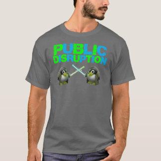 ペンギンのロゴの木炭T Tシャツ