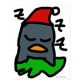 ペンギンの世界秩序のデザインによる休日のZzzのペンギン ポストカード