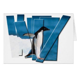 ペンギンの写真のストリップ カード