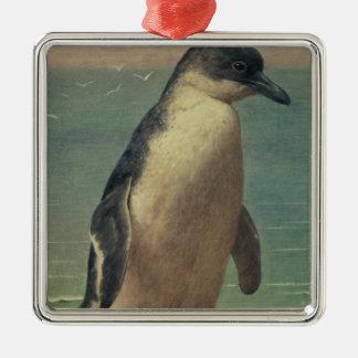 ペンギンの勉強 メタルオーナメント