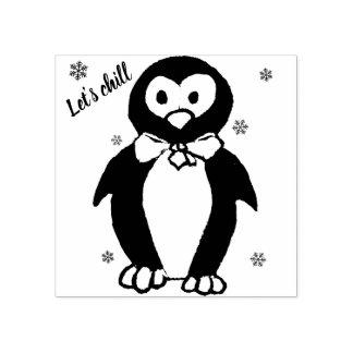 -ペンギンの動機のスタンプを冷やそう ラバースタンプ