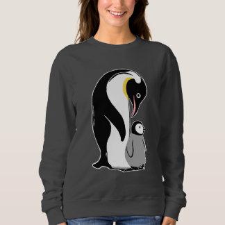 ペンギンの女性のスエットシャツ スウェットシャツ