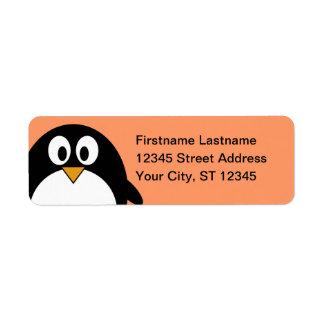 ペンギンの差出人住所 ラベル