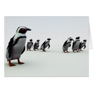 ペンギンの整列 カード