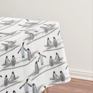 ペンギンの氷山のパーティーのテーブルクロス テーブルクロス