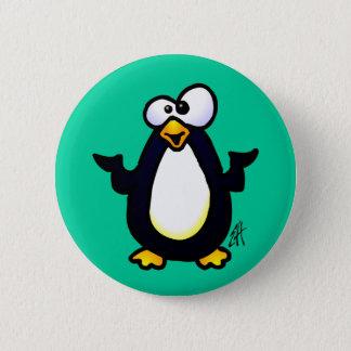 ペンギンの熟考 5.7CM 丸型バッジ