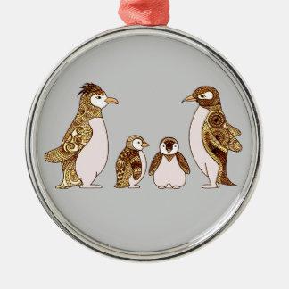 ペンギンの系列 メタルオーナメント