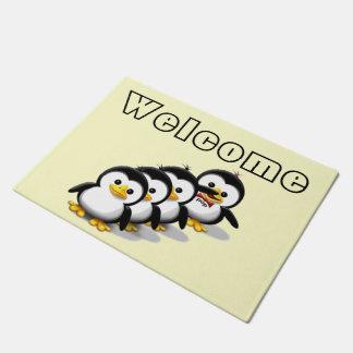 ペンギンの群 ドアマット