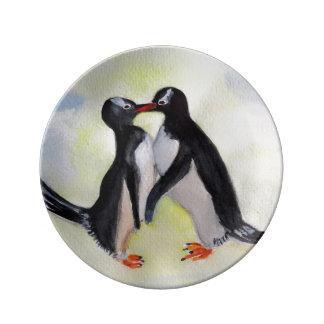 ペンギンの装飾的な磁器皿 磁器プレート