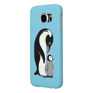 ペンギンの青いSamsungの銀河系S6の箱 Samsung Galaxy S6 ケース