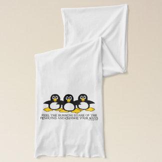 ペンギンの非常に熱い凝視を感じて下さい スカーフ