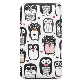 ペンギンの鳥のイラストレーションの背景 Case-Mate iPod TOUCH ケース
