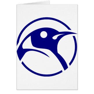 ペンギンのLinuxのイメージ カード
