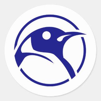 ペンギンのLinuxのイメージ ラウンドシール