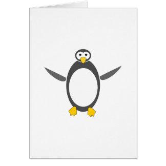 ペンギンのLinuxのデザイン カード