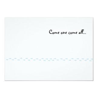ペンギンはパーティの招待状を印刷します 12.7 X 17.8 インビテーションカード