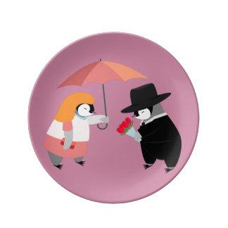 ペンギンを提案して下さい 磁器プレート