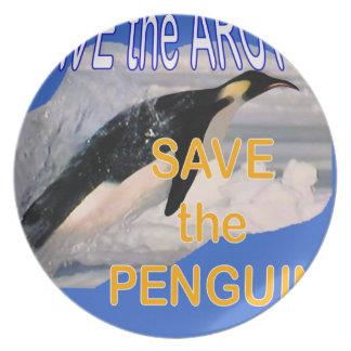 ペンギンを救って下さい プレート